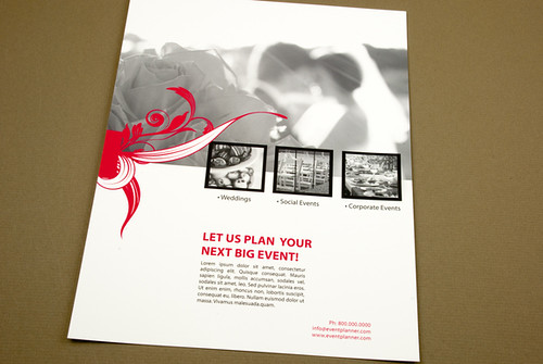 event planner flyer