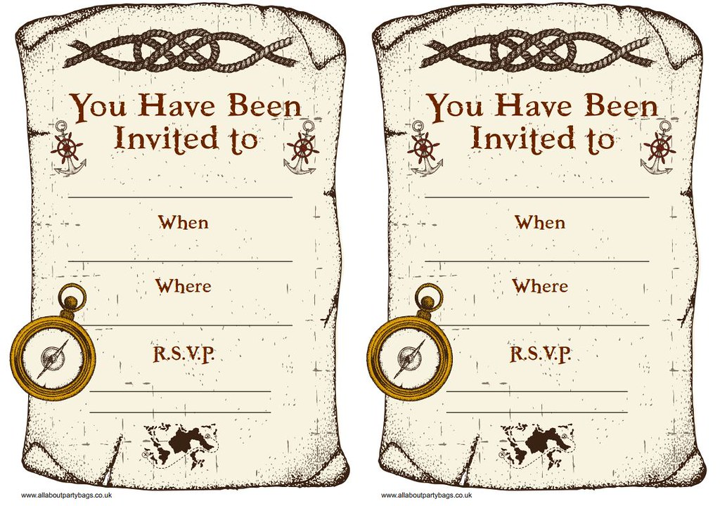 Pirate party invitations | Printable pirate invites. Please … | Flickr