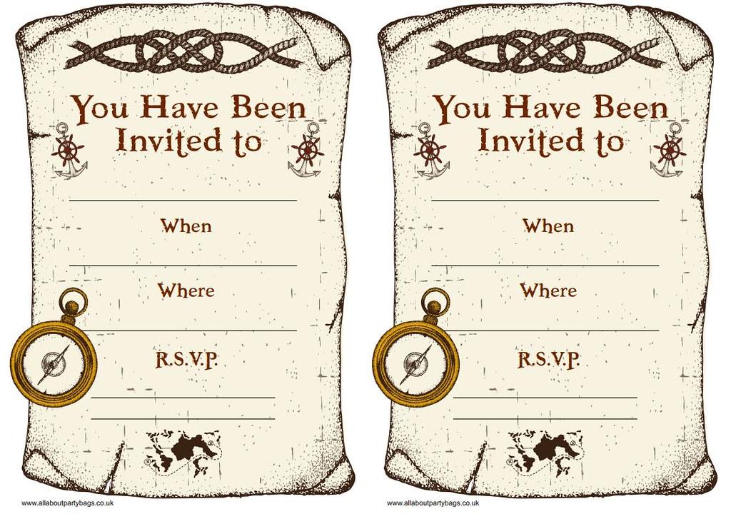 pirate party invitations printable pirate invites please flickr