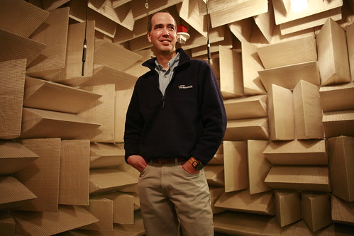 Anechoic chamber at Microsoft Research, Phil Chou | by Robert Scoble