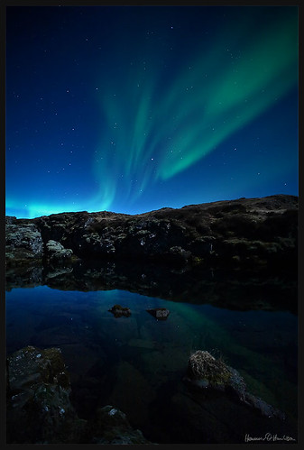 Aurora at Thingvellir | by hauxon