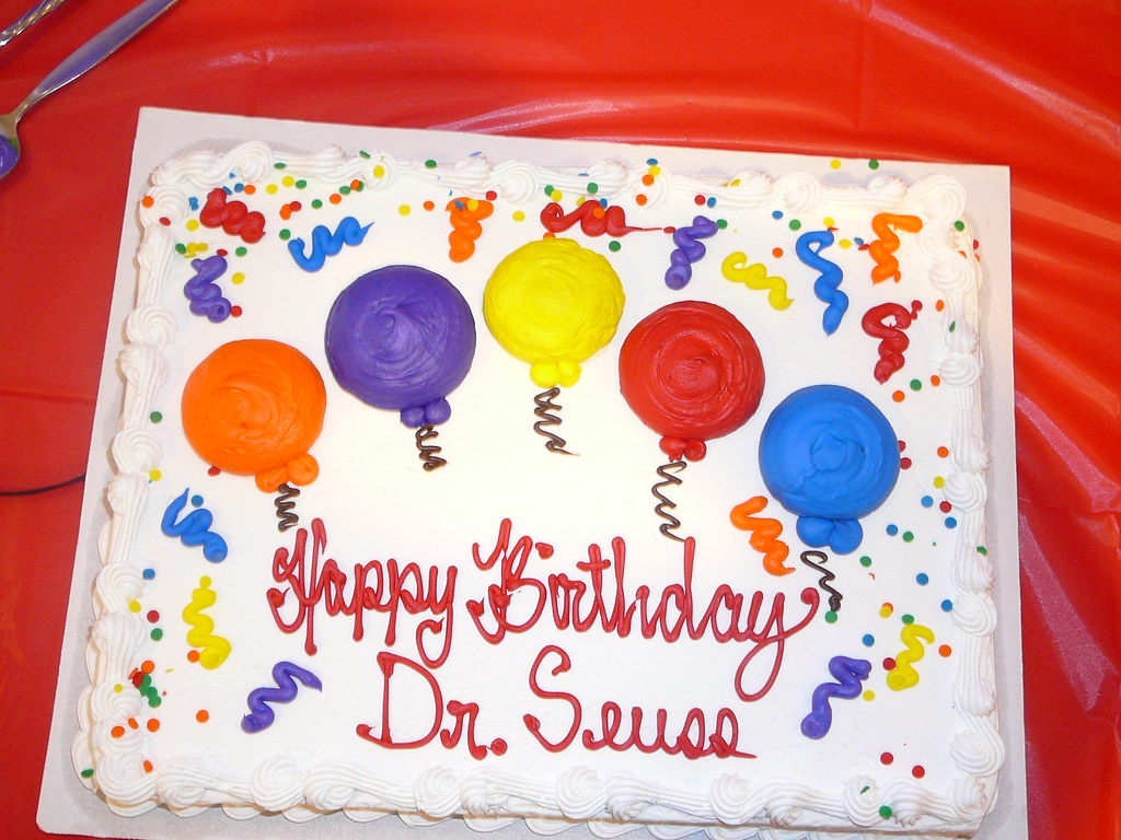 Dr Seuss Birthday Cake at the Vineland Library Branch V Flickr