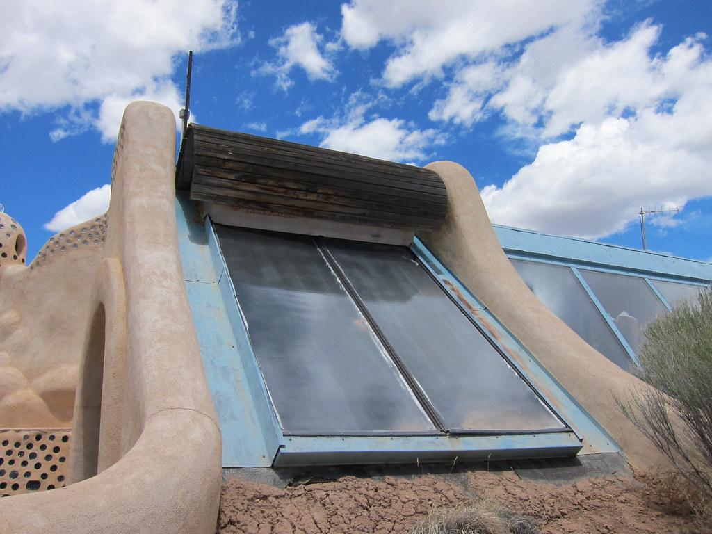 zonneboiler systeem op dak