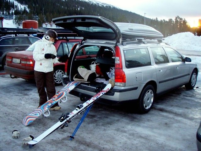 Peter Andersson: Awesome Girl, Skis, Snowboard And Volvo
