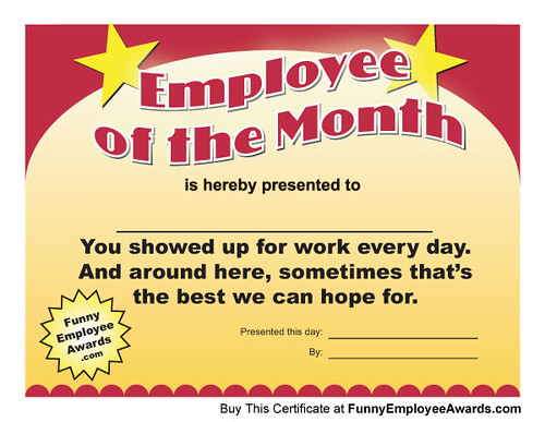 Employee of the month certificate download this funny for Employee of the month certificate template free download