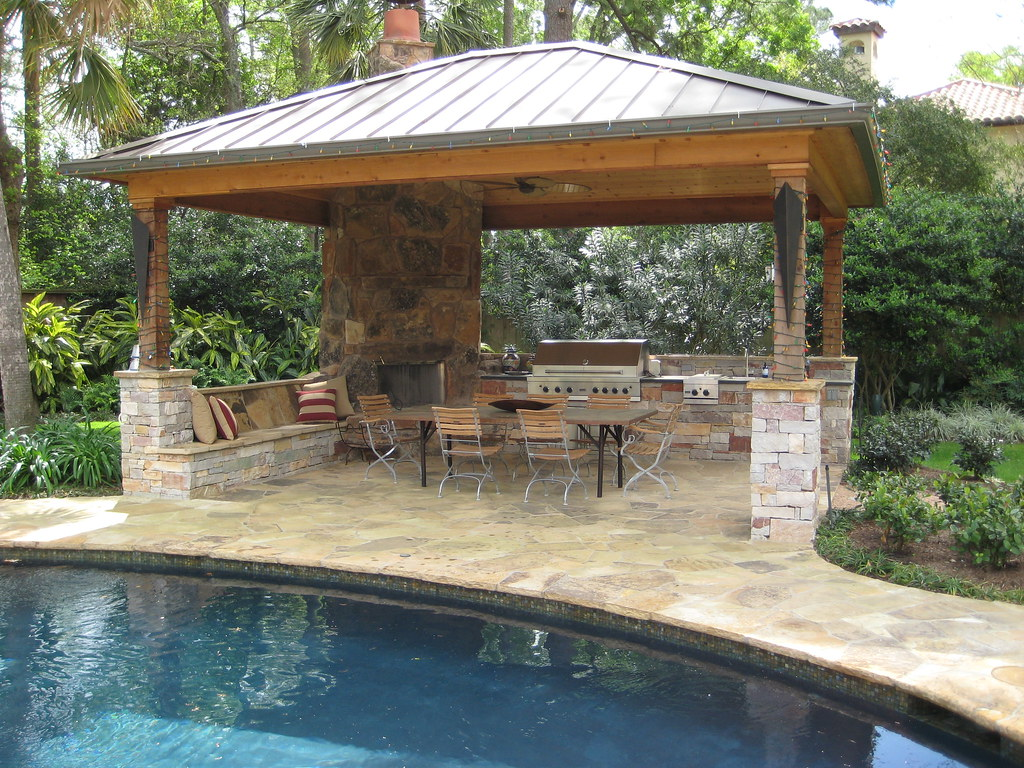 ... Standing Seam Metal Roof And Outdoor Living Area | By Wood Crafters