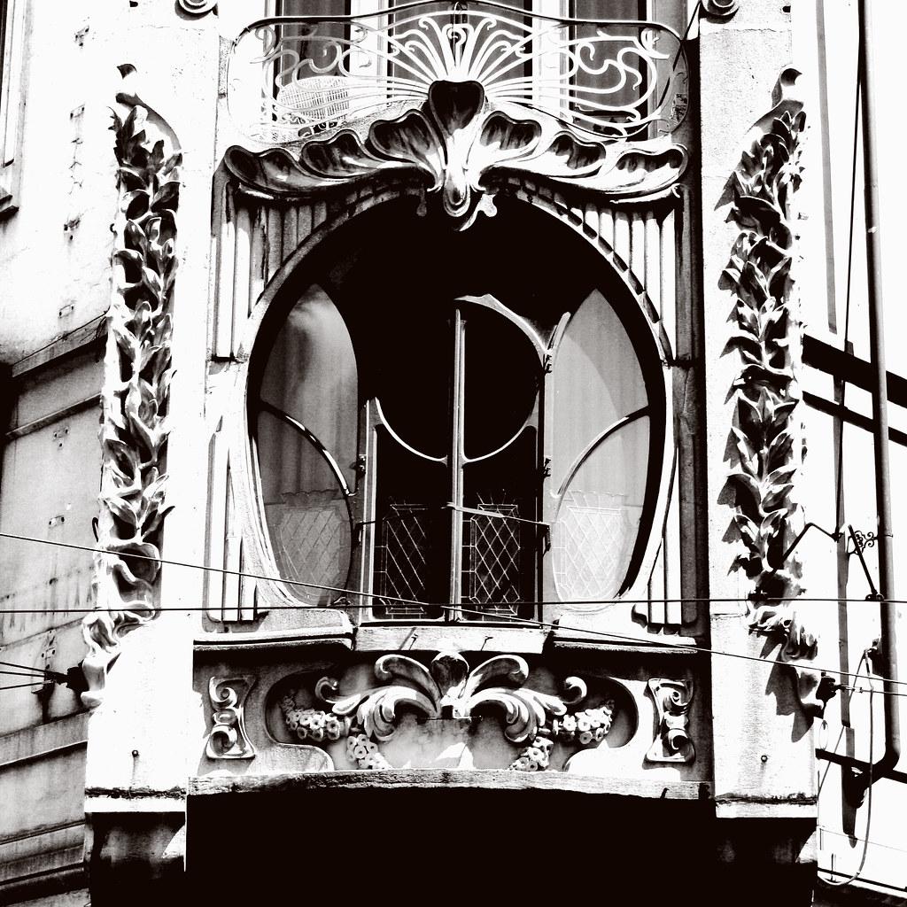 Fenêtre Art Nouveau à Turin - Photo d'Alata