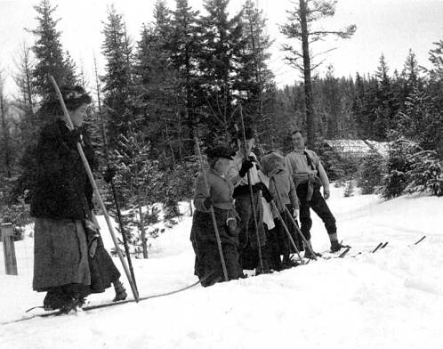 Skiers at Mount Rainier National Park, 1909 | by UW Digital Collections