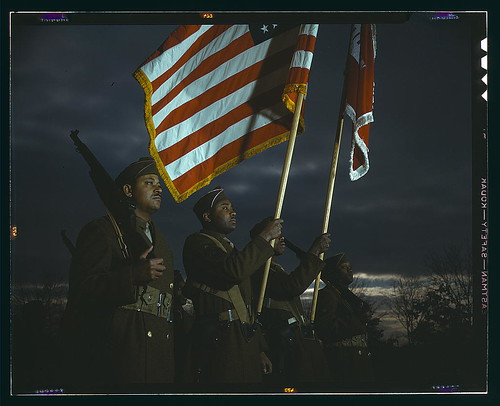 Color guard of Negro engineers, Ft. Belvoir(?), [Va.]  (LOC) | by The Library of Congress