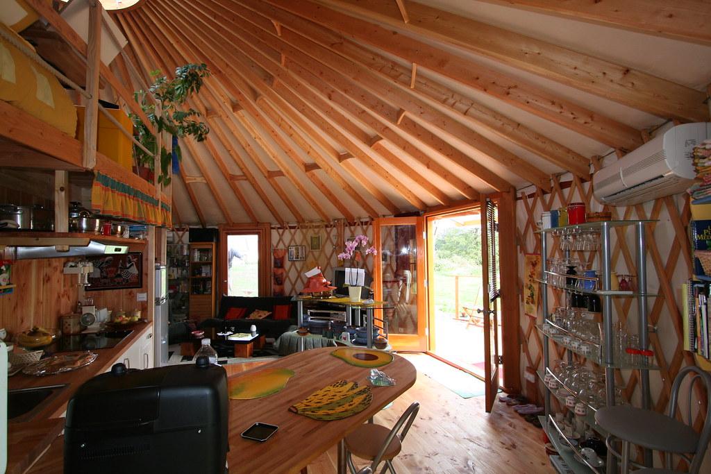 yourte d 39 habitation 019 yourte contemporaine de 68 m us flickr. Black Bedroom Furniture Sets. Home Design Ideas