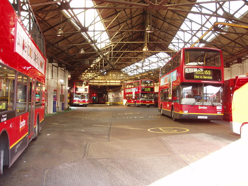 Merton Bus Garage | Lots of buses. | Ewan Munro | Flickr
