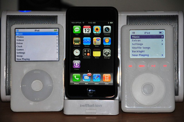 iPod 5th Gen, iPod touch (w/ iPhone apps), iPod 3rd Gen ...