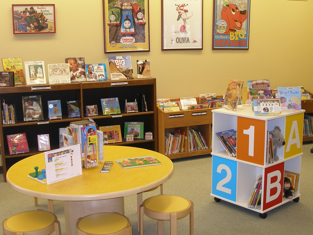 Bright child sized furniture at westonka library for Kid sized furniture