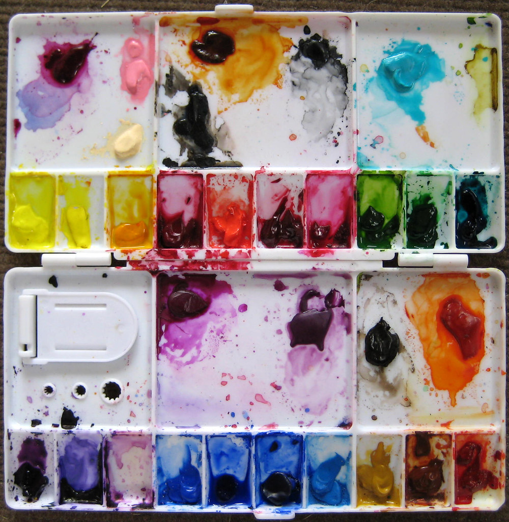my watercolor palette mostly holbein and some daniel smi flickr. Black Bedroom Furniture Sets. Home Design Ideas