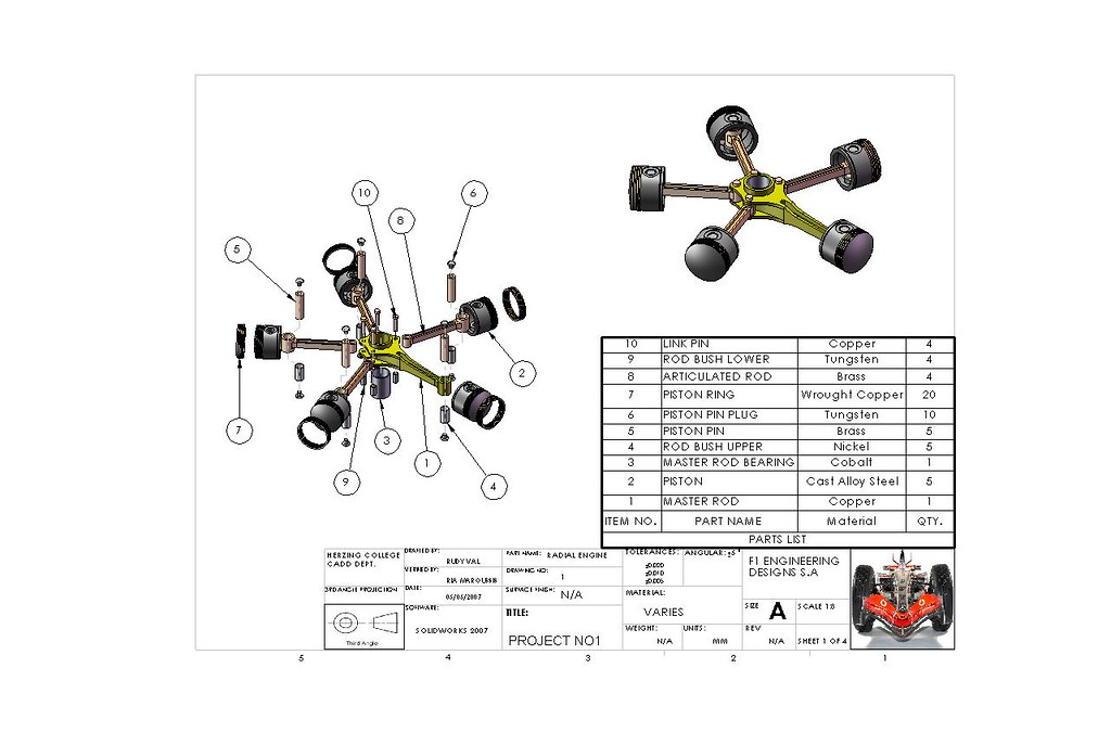 radial engine parts list