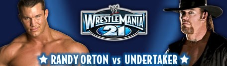 randy orton vs the undertaker at wrestlemania 21 ...