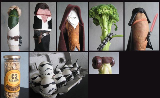 Grocery Store Wars Cast   Cuke Skywalker, Ham Solo, Obi Wan …   Flickr