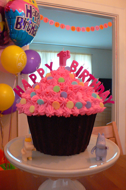 First Birthday The Giant Cupcake Cake That I Made For My
