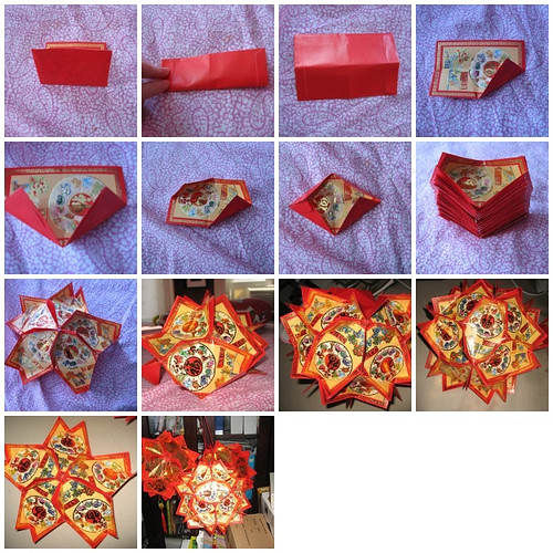Tutorial making chinese lantern you would need 30 red - How to make chinese lantern ...