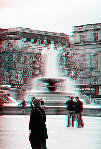 Trafalgar Square Fountains 4 3D Anaglyph | by coronetv000