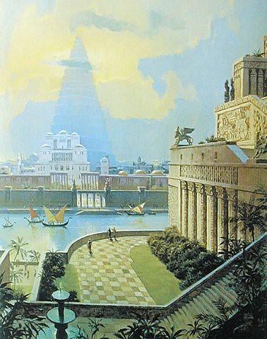 The Hanging Gardens of Babylon   Greek geographer Strabo - \