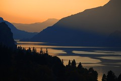 sunset in the columbia river gorge | by drburtoni