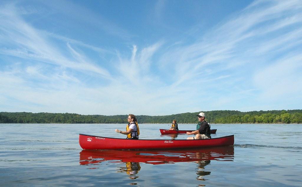 Harsha Lake Dam Canoe Lessons on Harsha Lake
