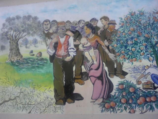 Il mural di Piazza Valarioti a Rosarno