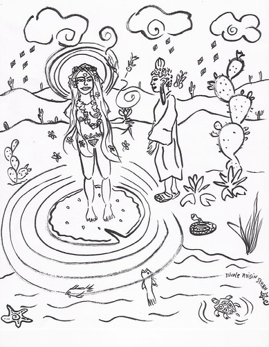 * The Very Short Sutra on the Meeting of the Buddha and the Goddess * | by Neshamah Spirit Art