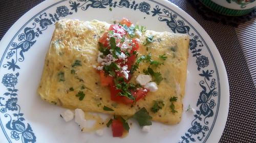Feta omelet
