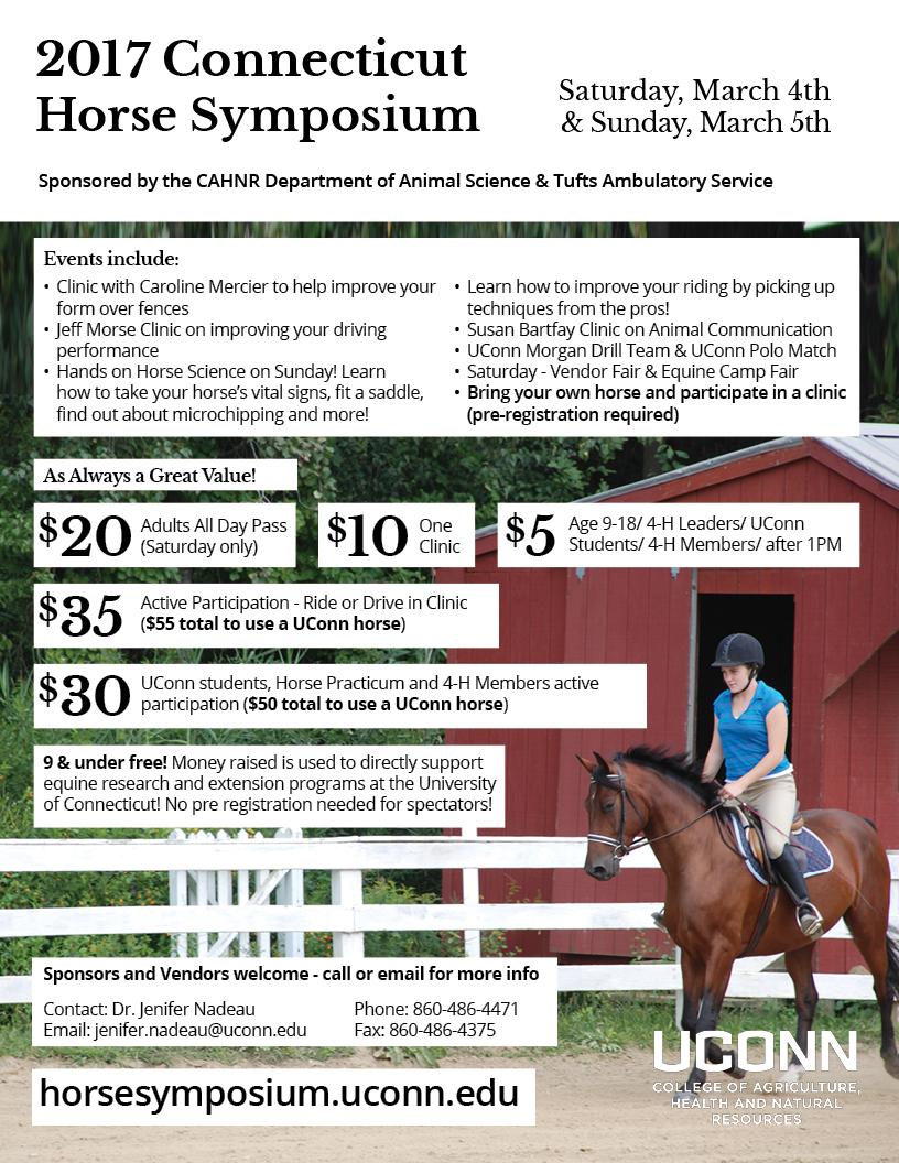 2017 Horse Symposium flyer