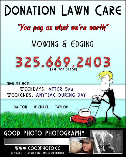 Flyer For Lawn Care Service Jason Mcdonald Flickr