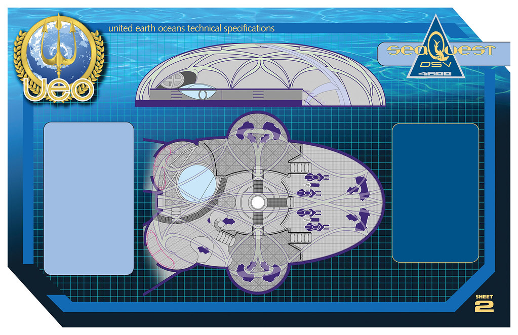 seaQuest DSV bridge blueprints | This is artwork from the ...