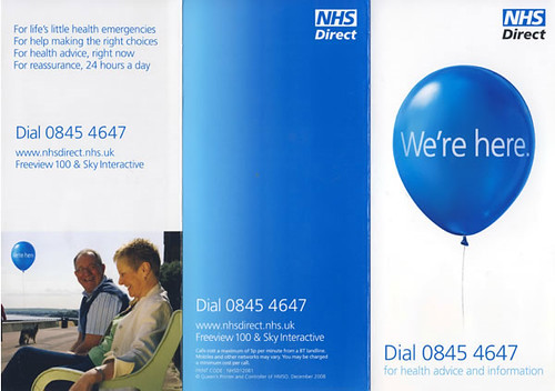 promotional leaflet we re here for all your health needs