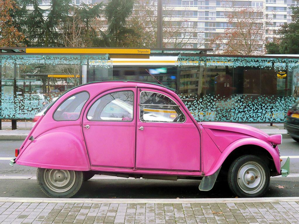 deux chevaux rose pink 2cv deux chevaux en fran ais flickr. Black Bedroom Furniture Sets. Home Design Ideas