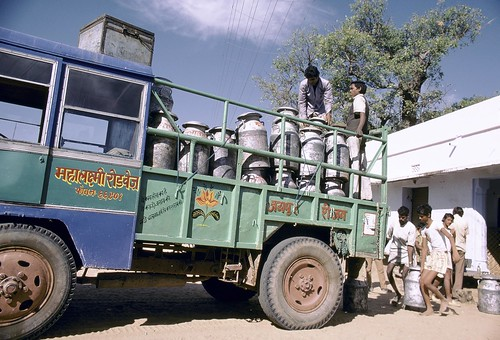Vehicle carrying milk | by World Bank Photo Collection