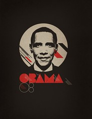 Obama 08 - Red/White on Asphalt | by xtrapop