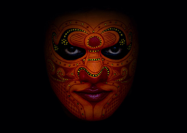 theyyam dancer 39 s face with make up india in india you c flickr. Black Bedroom Furniture Sets. Home Design Ideas
