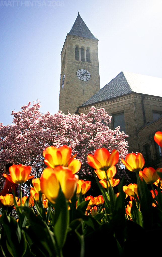 Spring @ Cornell | A view of Cornell University's McGraw ...