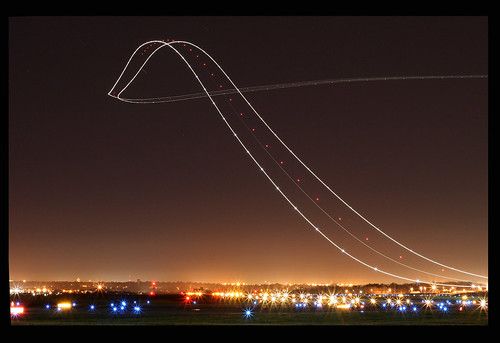 UPS 757 Night Departure | by Kris Klop - clearskyphotography.com