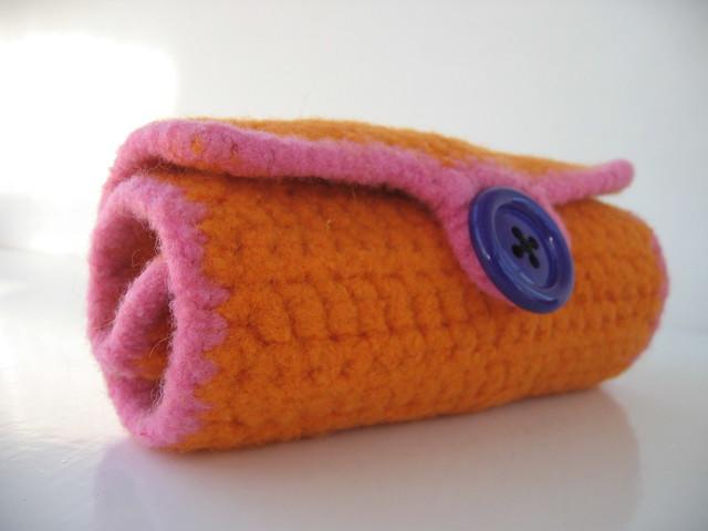 Felted Crochet Hook Roll From The Free Berroco Pattern Kl Flickr