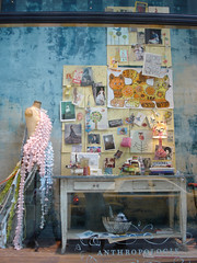 my collages in Anthropologie window | by petitcollage