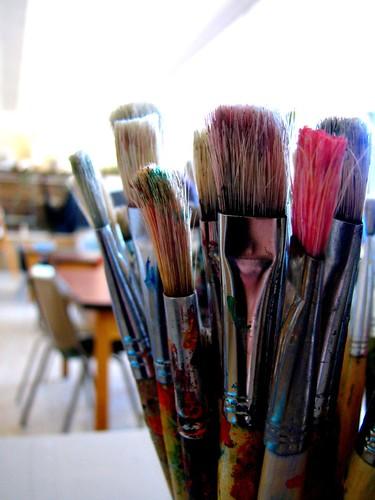 Teacher Paint Brushes