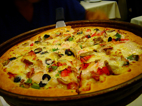 seafood pizza | by Helga Weber