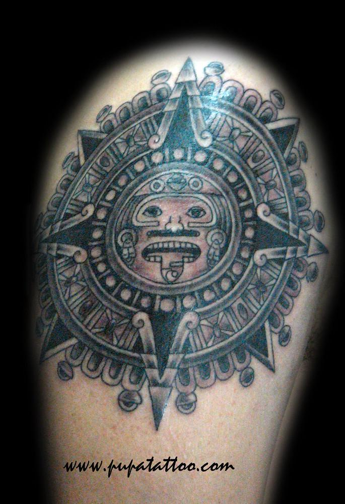 Sol Azteca Tatuaje tatuaje sol azteca pupa tattoo granada | pupa tattoo art gal… | flickr