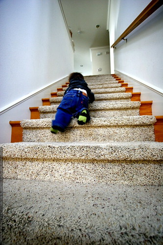 toddler descending a staircase - _MG_9514 | by sean dreilinger