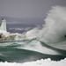 Huge Wave Crashes on the Petoskey Breakwater