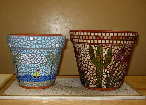 ... Mosaic Garden Clay Pots | By Tucson Pepper