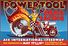 Power Tool Drag Racing flyer - color | by Josh Ellingson