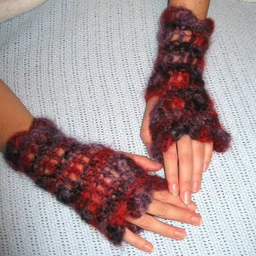 Dahlia - Mohair Arm Warmers | by kastrollkreations